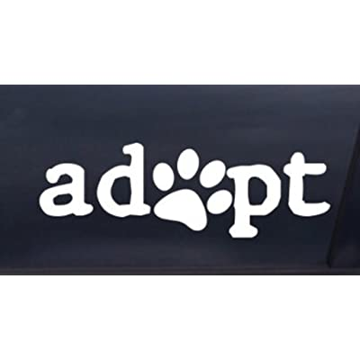 Keen Adopt a Pet Decal Vinyl Sticker|Cars Trucks Walls Laptop|White|5.5 X 1.8 in|KCD380: Automotive