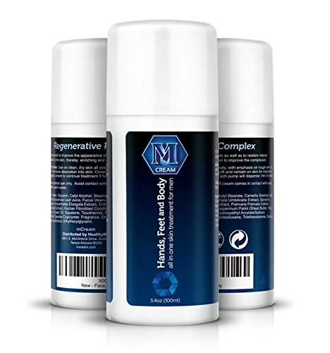 mCream - Skincare for Men, Hands, Feet, Elbows, Knees & Body, Shave Lotion Luxury Skin Cream Advanced Formula for Fast Cracked Skin Relief and Repair