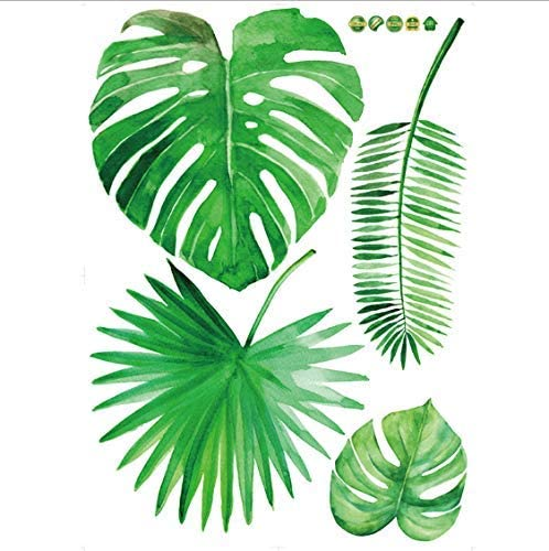 Amazon Com Vwsitc Wall Stickers Diy Palm Leaves Tropical Raffia Tree Leaves Wall Sticker Kitchen Dining Cartoon style set of vector summer stickers, patches or icons with cute toucan, tropical leaves and flowers, summer fruits and ice creams. vwsitc wall stickers diy palm leaves