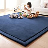 OLIVE US-Japanese Non-slip Soft Memory Foam Home Bedroom Floor Mat Rug CarpetGOOD(blue)