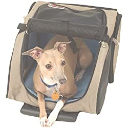 Snoozer Roll Around 4-in-1 Pet Carrier, Khaki, Black & Blue, Large