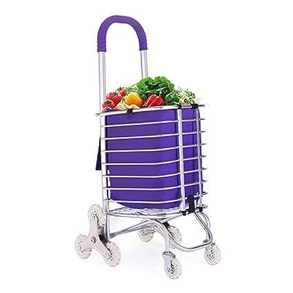 J. SCR De Aluminio Ligero Plegable Super Gran Supermercado Supermercados Carrito De Compras, Carrito