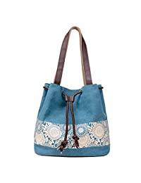 Women's Canvas Tote Bags Large Casual Shoulder Handbags and Purse