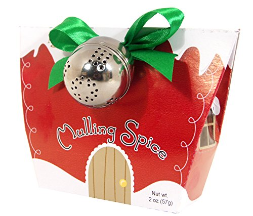 Too Good Gourmet Holiday Mulling Spice Gift Pack with Ball, Red, 2 Ounce