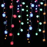 HOOPLE 48 Bulbs 1.5 M/5 FEET Multicolor Christmas Decor Lights Christmas Twinkle Fuzzy Ball Lights LED String Lights Christmas Lights