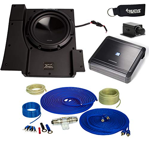 Alpine SBV-10-WRA 10-Inch Subwoofer for 2007-2018 Jeep Wrangler with MRV-M500 Amplifier, Wire kit and Bass ()