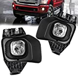 ford super duty lights - AUTOSAVER88 Factory Style Fog Lights For 11-15 Ford F-250/ F-350/ F-350 Super Duty/ F-450 / F-450 Super Duty/ F-550/ F-550 Super Duty(Clear Lens with Bulbs & Wiring Harness)