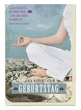 Geburtstagskarte Yoga Einen Wunderschonen Geburtstag 50 H0183