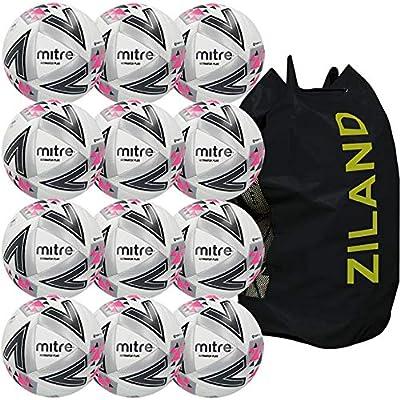 Mitre Ultimatch Plus - Balón de fútbol (12 Unidades), Color Blanco ...