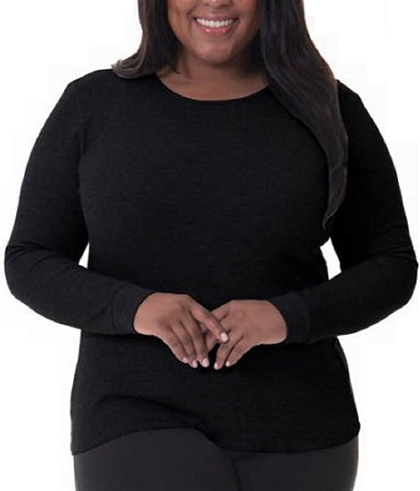 Fruit of the Loom Womens Waffle Thermal Crew Tops Thermal Underwear Top