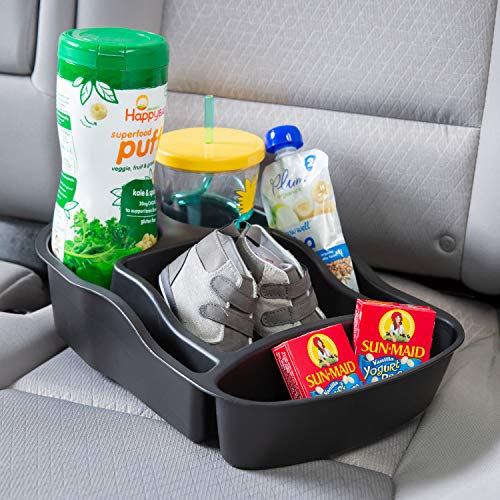 - Rubbermaid 3371-00 Automotive Portable Tote Bin Organizer: Passenger Seat/Car Cargo Area Storage Caddy with Leakproof Bottom, Smal
