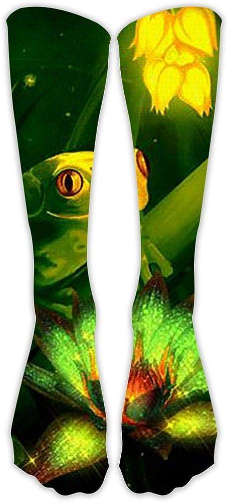 Fashionable Tube Socks Novel Calf High Sport Socks Cute Green Frog Suitable For Both Men And Women