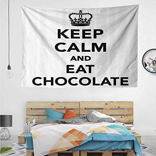 HuaWuChou Eat Chocolate Crown Tapestry, Wall Hanging Tapestries Mysterious Wall Tapestry for Home Decor, 10W x 8L Inches