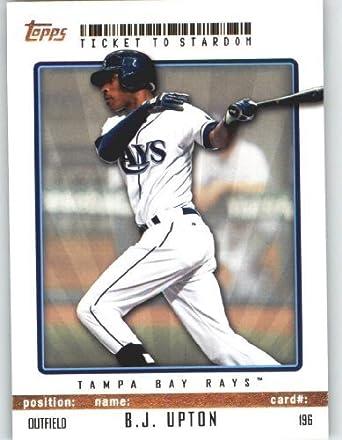 6bcf43e6 B.J. Upton - Tampa Bay Rays - Topps Ticket to Stardom Baseball Card # 196 -