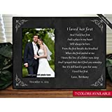Father of the Bride Gift, Personalize I Loved Her First Keepsake Picture Frame