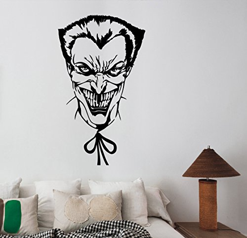 Joker Wall Art Decal DC Comics Movie Superhero Sticker Decorations for Home Kids Living Room Bedroom Dorm Decor (Super Scary Stuff)