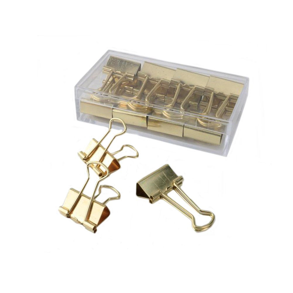 Yigo - Morsetti da 19mm per ufficio e scuola Rose Gold