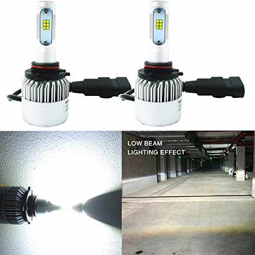 Alla Lighting New CSP Xtremely Bright LED Headlight Bulbs w/High Power 8000Lm 6000K White Lamps (H10 9145)