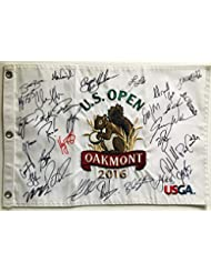 2019 Us Open Autograph Signed Field Flag Dustin Johnson Spieth Beckett Bas Coa Sports Mem, Cards & Fan Shop