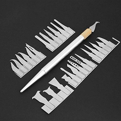 Wal front BGA Chip Repair Blade Set, IC Chip Repair Thin Blade Tool CPU Remover Circuit Board Motherboard Repair Knife with 27 Blades and 1 Handle