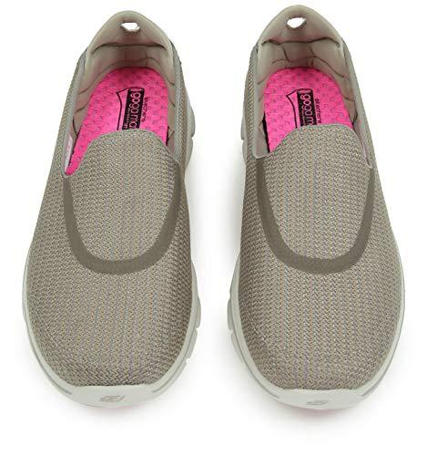 Baskets Femme Skechers Walk Basses 3 Beige Go stn wqnOTH4