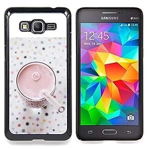 For Samsung Galaxy Grand Prime SM-G530F G530FZ G530Y G530H G530FZ/DS , Saludable Strawberry Smoothie - Diseño Patrón Teléfono Caso Cubierta Case Bumper Duro Protección Case Cover Funda