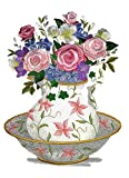 delft pitcher - Custom and Unique Spring Blooms With Vase[FloralWashBasinandPitcher ] Embroidered Iron on/Sew patch [12