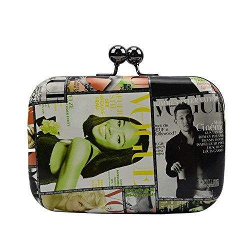Bag Evening G Evening Queue Chain Bag Messenger WUHX Hard Dress Shoulder Luxury Lady Clutch Dress Mini Bag Shell Dinner qOBZpIw