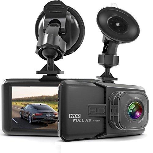 Dashcam, Full HD 1080P Dashcam Autokamera Video Recorder mit 170° Weitwinkelobjektiv, 3 Zoll LCD-Bildschirm, WDR, Bewegungserkennung, Parkmonitor, Loop-Aufnahme, Nachtsicht und G-Sensor