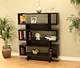 Frenchi Home Furnishing Tier Display Cabinet/Bookcase, Black