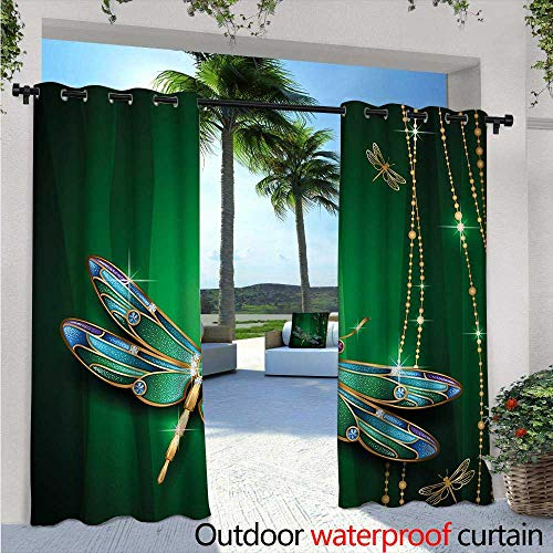 Crystal Gre Simple (Dragonfly Outdoor Privacy Curtain for Pergola W84