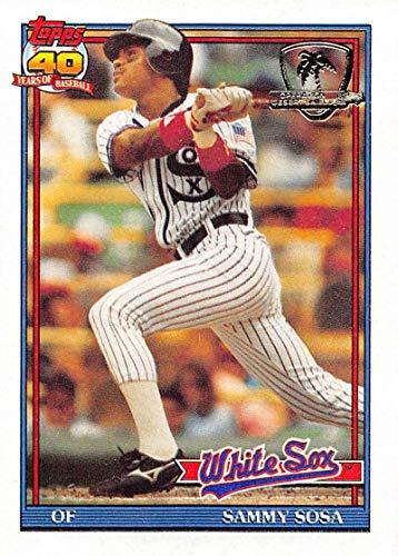 (1991 Topps Desert Shield Baseball #414 Sammy Sosa Chicago White Sox Official MLB Trading Card)