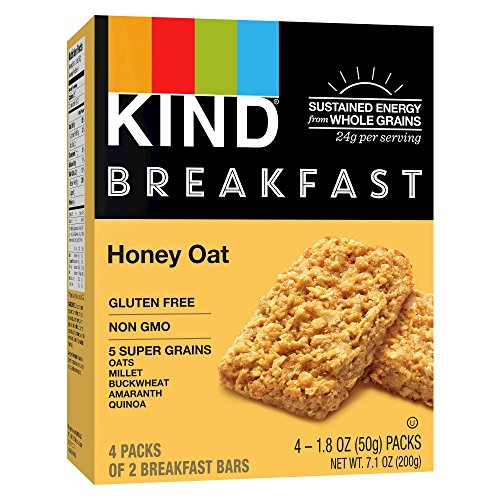 Kind Healthy Grains Honey Oat Breakfast Bars 1.8ozx4bars, total 7.1oz by Kind Healthy Grains Honey