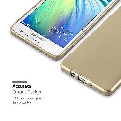 Cadorabo - Cubierta Protectora para Samsung Galaxy A3 (5) - Modelo 2015 de Silicona TPU con Efecto Metálico Mate