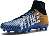 Kids Soccer Shoes Football Boots Cleats High-top with Sock for Boy Performance Shock Buffer Foot Care Indoor/Outdoor (Little Kid/Big Kid)