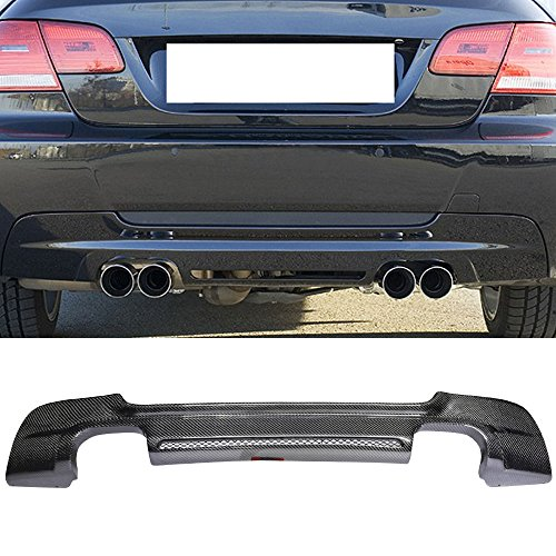 Rear Diffuser Fits 2007-2013 BMW E92 | M-Tech M Sport HM Style Rear Bumper Diffuser Carbon Fiber CF by IKON MOTORSPORTS | 2008 2009 2010 2011 2012 ()