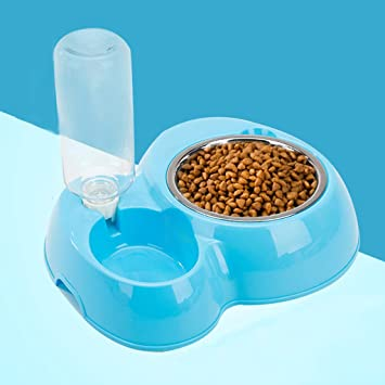 MXD Suministros para Mascotas Fuentes de Agua para Gatos y Perros Dispositivo de alimentación automática Dispensador