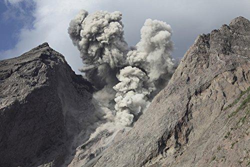 Posterazzi November 28 2012-Ash Cloud from Explosive strombolian Eruption Rising from Active Crater of Batu Tara Volcano Komba Island Indonesia. Poster Print (17 x 11)