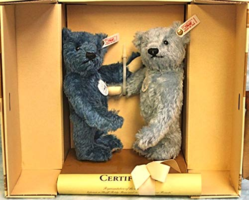 Steiff Forever Friends Teddy Bear Pair Mohair 22cm - 9.2