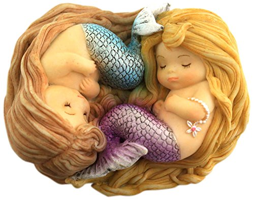 (Top Collection Miniature Fairy Garden and Terrarium Sleeping Little Mermaid Friends)