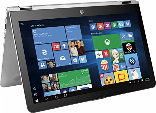 HP ENVY x360 2-in-1 Convertible 15.6″ Full HD Touchscreen Backlit Keyboard Laptop PC, Intel Core i5-7200U Dual-Core, 12GB DDR4, 1TB HDD, Stereo speakers, Windows 10 (Silver)