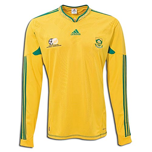 adidas South Africa Long-Sleeve Home Soccer Stadium Jersey 2010 Sunshine (2XL)