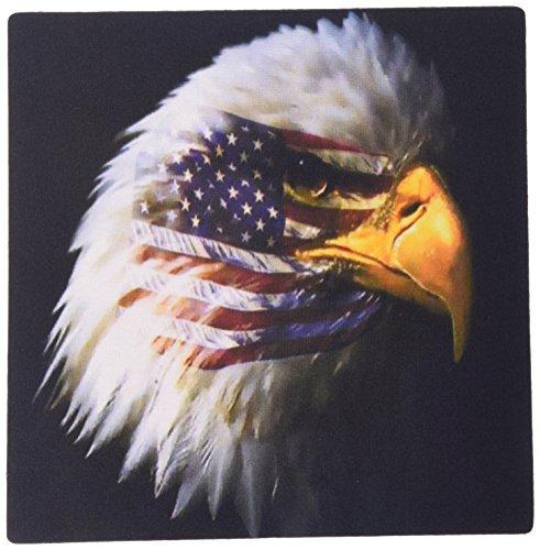 3dRose Bald Eagle with USA Flag Superimposed Mouse Pad (mp_109328_1) ()