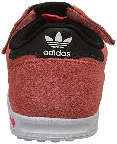 adidas  La Trainer,  Unisex Kinder Turnen Flash Red S15/Ftwr Blanc/Flash Red S15