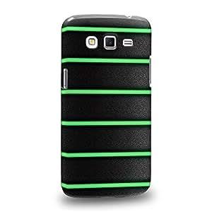 Case88 Premium Designs Art Bicycle Green Grip Carcasa/Funda dura para el Samsung Galaxy Grand 2