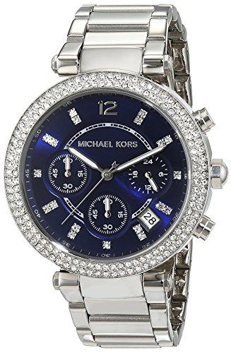 Michael Kors MK6117 Ladies Parker Navy Blue Steel Chronograph -