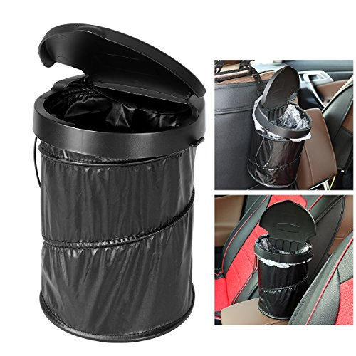 Container Car (WINOMO Portable Car Trash Can Waterproof Collapsible Trash Bin Garbage Container with Garbage Bags)