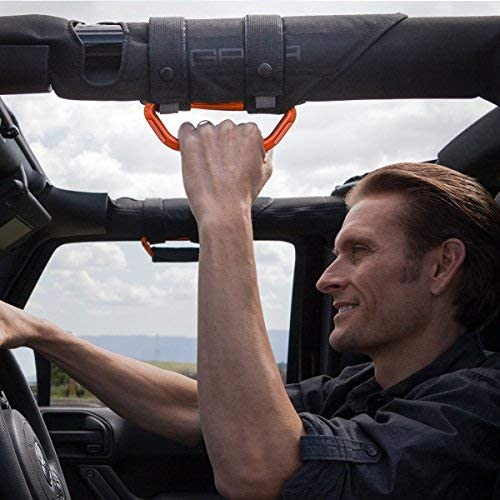 GPCA GP-Grip PRO Grab Handle for Jeep Wrangler JL JK Sports//Sahara//Freedom//Rubicon X Unlimited X 2DR// 4DR 2007-2020 w// 3 roll Bars Universal to Front//Back Pair GarberOrange