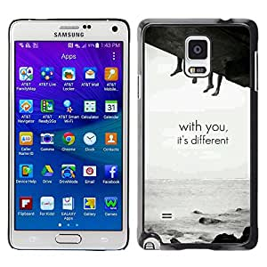 MOBMART Carcasa Funda Case Cover Armor Shell PARA Samsung Galaxy Note 4 - You Are Different
