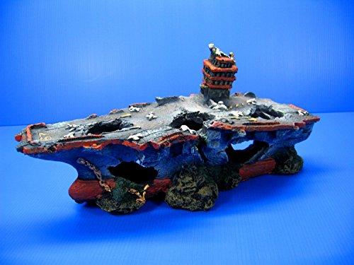 Shipwreck Bow Aquarium Ornament - Broken Aircraft carrier 13.1